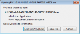 Virusscan before download